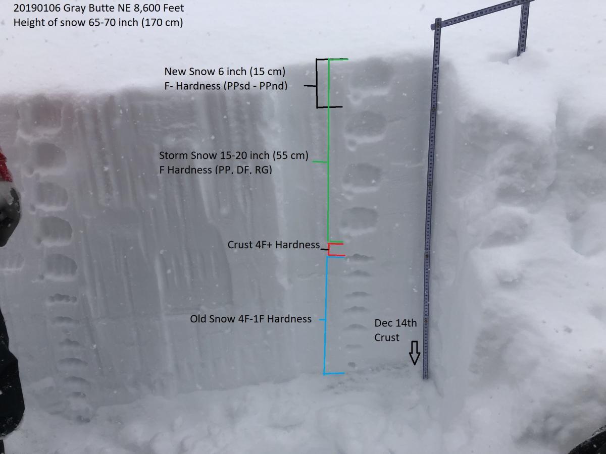 Test profile on NE Gray Butte Ridge 8,600 Feet