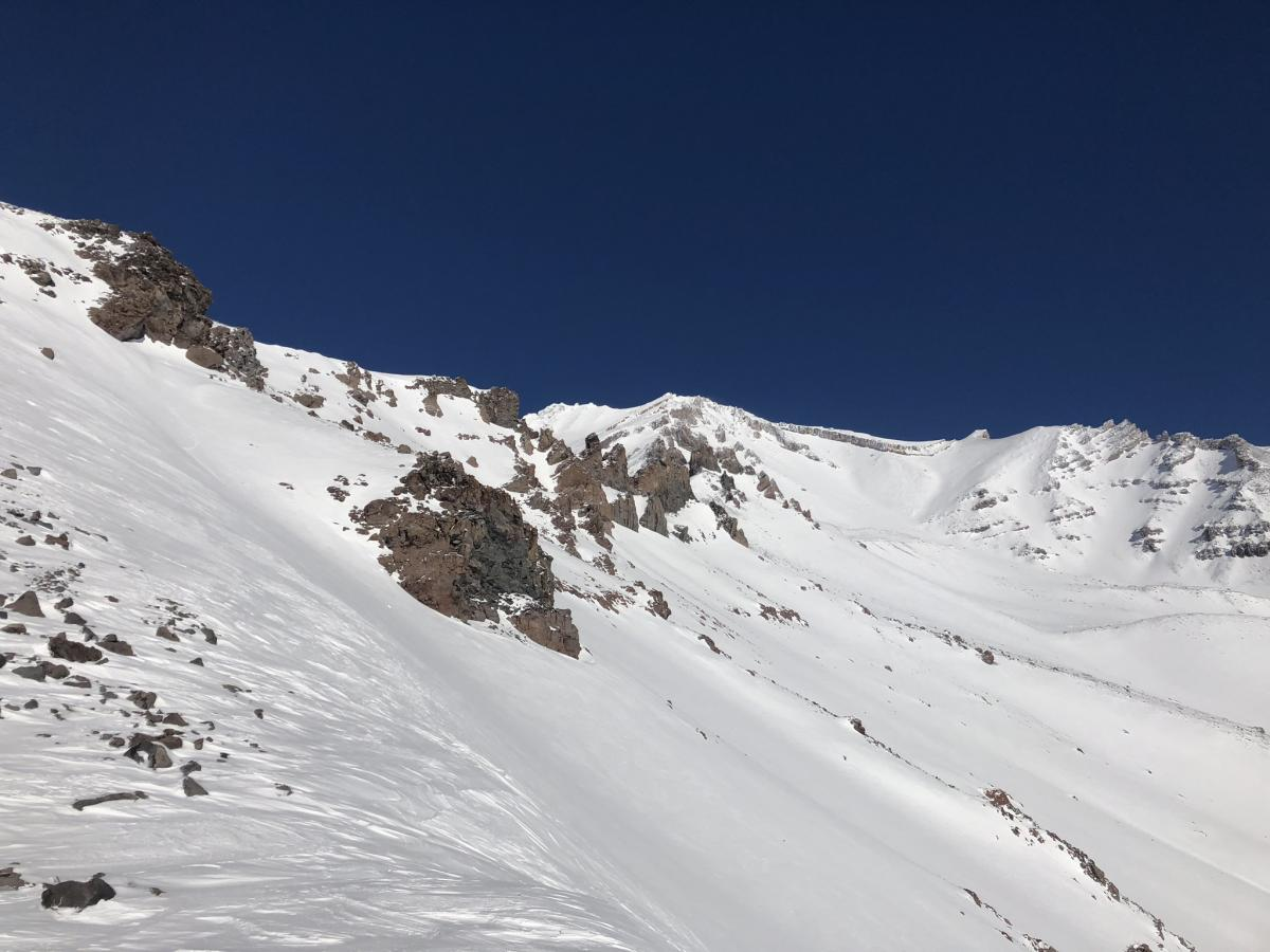 Looking into Avalanche Gulch