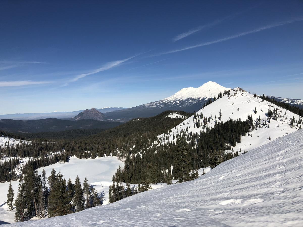 Looking towards Left Peak from near Heart Lake