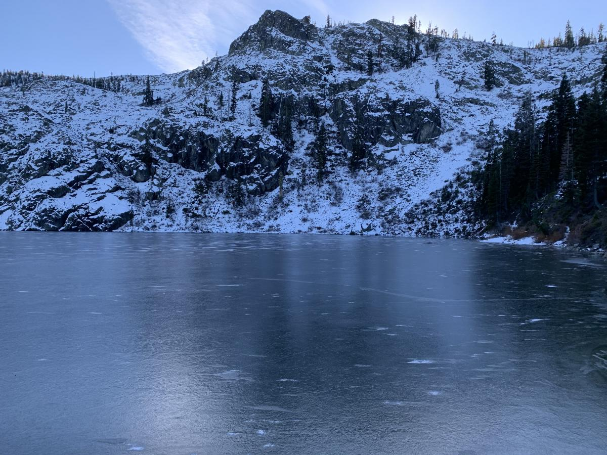 Castle Lake ice