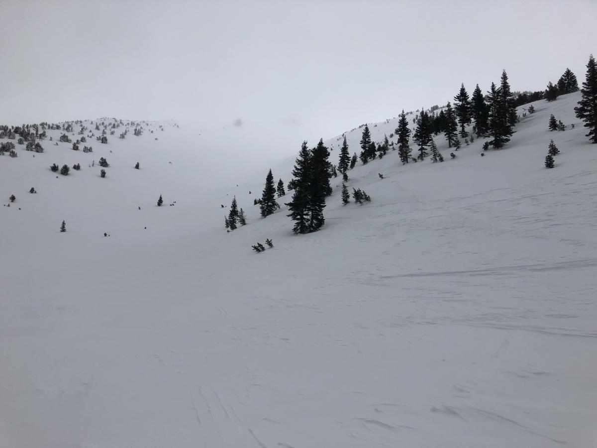 Low visibility on lower Casaval Ridge