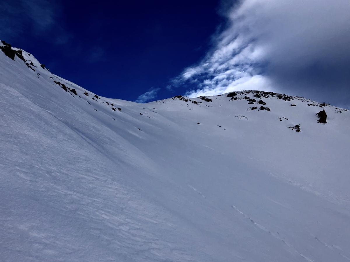 Looking up Powder Bowl from Sun Bowl, Green Butte 8,800 feet