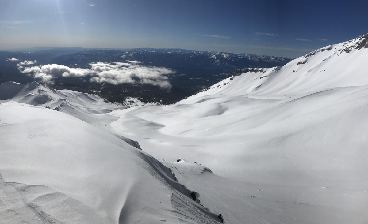 Lower Avalanche Gulch viewed from 9,500 feet on Green Butte Ridge