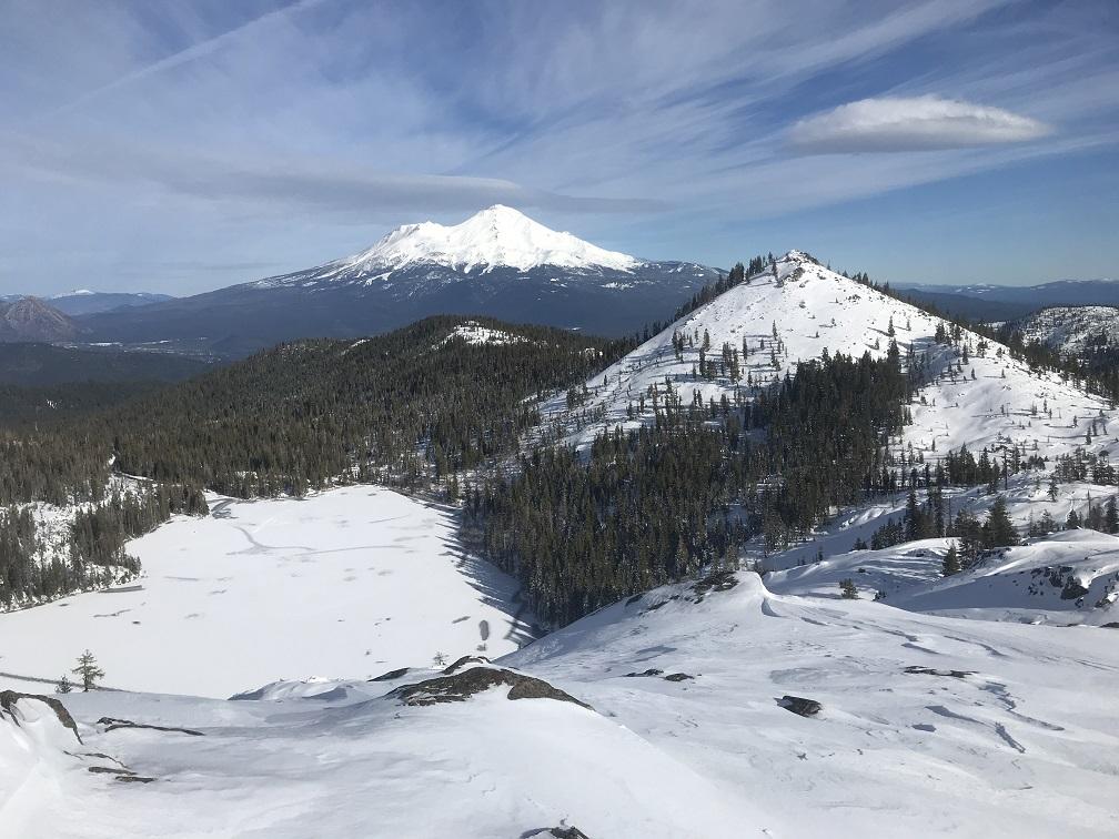 Castle Lake below, photo taken from Middle Peak