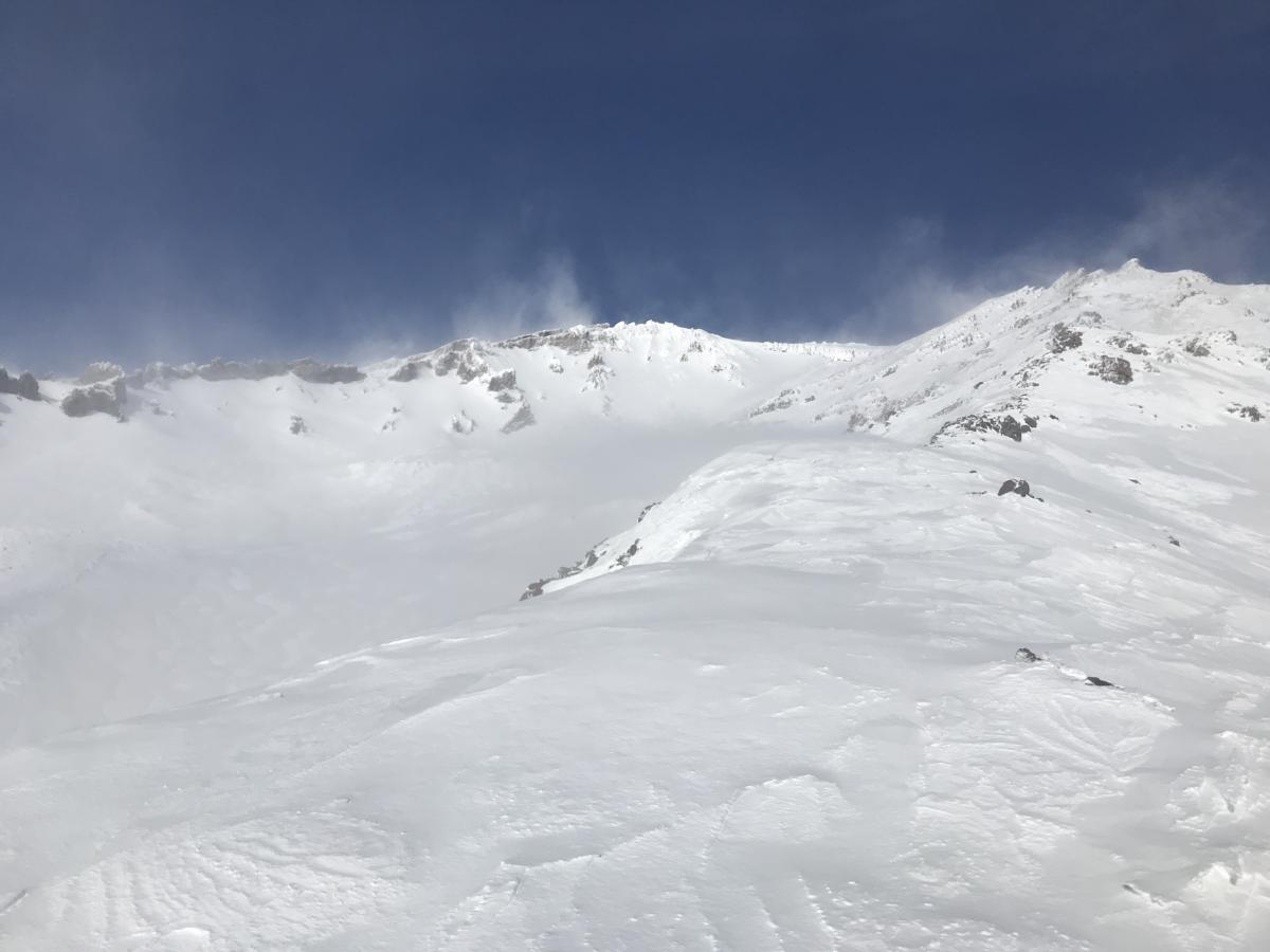 Green Butte Ridge and upper Avalanche Gulch