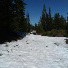 Northgate snow conditions at 6,400 feet