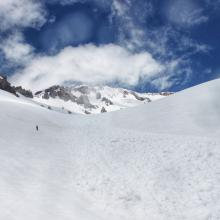 looking up at the avalanche