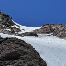 Topping out wintun glacier, 13,500ft. Rocky patch's.