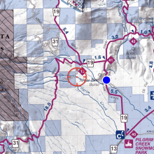 Can drive to here for Brewer Creek trailhead
