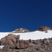 Snowfield starting at 10,500 feet