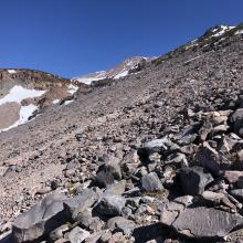 The last traverse to Hidden Valley has melted out to the summer trail