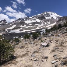 Dry trail above treeline.