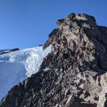 Rock Above Whitney Glacier