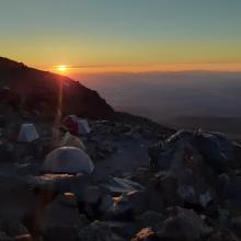 Sunset overlooking the Shasta Valley