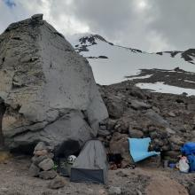 Plenty of bivy sites and camps like this. This camp is at 10,400'.