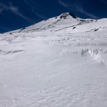 Large sastrugi at 9,800 feet.