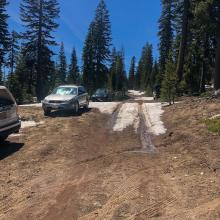 Access is blocked 1.3miles from trailhead due to snow