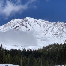 South side from Bunny Flat, trailhead plowed year round and open. 3.25.21