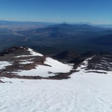 Looking down the ridge from ~12,000'