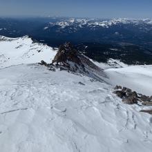 Looking down Green Butte ridge from ~9,800 feet