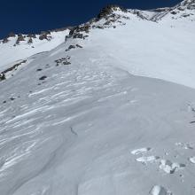 Looking up Green Butte ridge from 10,000 feet