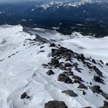 Looking down Green Butte ridge