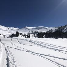 Looking towards Green Butte Ridge from Avalanche Gulch