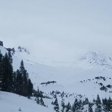 View of upper mountain
