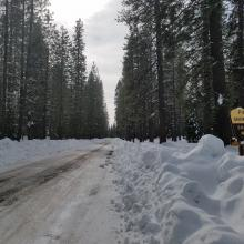 Pilgrim Creek Road (13) to the Southwest