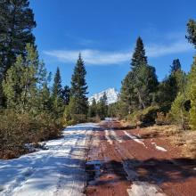 East road after 2 miles off of Military Pass Road