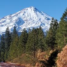 East side of Mount Shasta