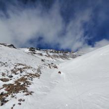 Climbers Gully - where the best snow is.