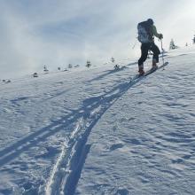 Ski penetration 4-10 inches