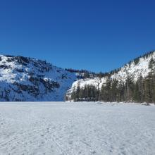 Lake is frozen and supportable.