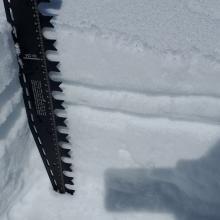Breakable crust over low density snow - potential weak layer