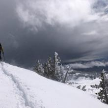 New Wind Loaded Snow Up to 91 cm (36 in) Deep