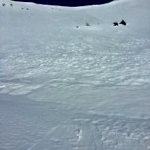 Looking up Powder Bowl. Green Butte south aspect.