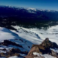Looking down Green Butte Ridge.