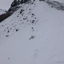 Small drift forming on Casaval Ridge