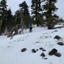 Ridgeline above the bowl, heading toward the weather station