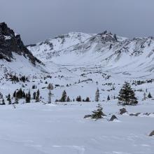 Old Ski Bowl viewed from near treeline