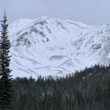 Avalanche Gulch later this afternoon after a 36-hour wind event