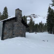 Horse Camp cabin near the base of Casaval Ridge, 7,900 feet