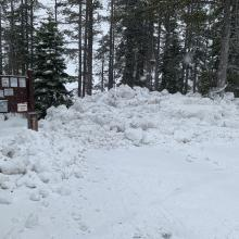 Castle Lake trailhead on 1.6.21 at 1430 hrs