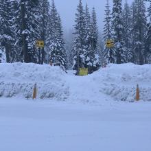 Bunny Flat snowmobile/motorized access ramp, please keep clear!