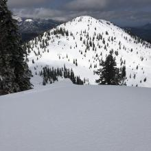 View of Right Peak from Center Peak ridge