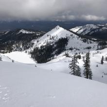 View of Left Peak from Center Peak ridge