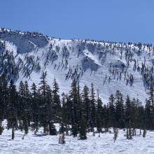 Gray Butte looking quite wind affected