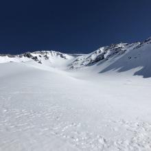 Avalanche Gulch proper, just below Helen Lake area