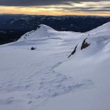 Looking west from bottom of Powder Bowl
